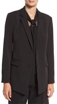 MICHAEL Michael Kors Long Two-Button Blazer, Black $255 thestylecure.com