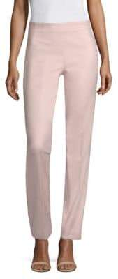 Piazza Sempione Cotton Sateen Flat-Front Pants