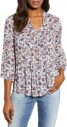 Lucky Brand Floral Tiered Peasant Blouse
