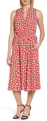 Anne Klein Zuma Petal Drawstring Midi Dress