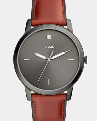 Fossil The Minimalist Brown Analogue Watch