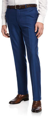 Etro Men's Wool-Cotton Straight-Leg Pants