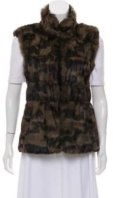 Jocelyn Fur Reversible Vest Olive Fur Reversible Vest