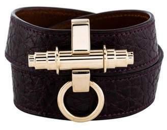 Givenchy Leather Obsedia Triple Wrap Bracelet Gold Leather Obsedia Triple Wrap Bracelet
