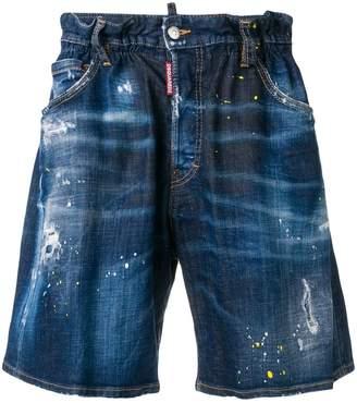 DSQUARED2 elasticated waist denim shorts