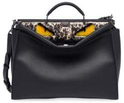Fendi Peekaboo Leather& Fur Satchel