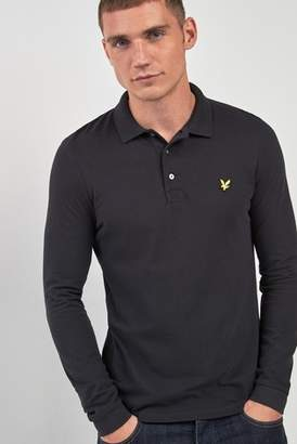 Next Mens Lyle & Scott Long Sleeve Poloshirt