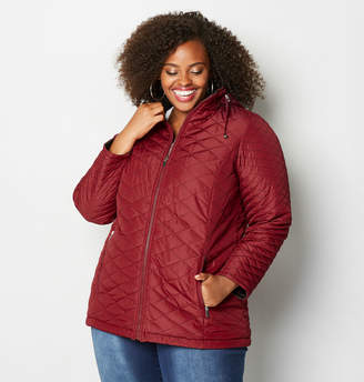 Avenue Red and Black Reversible Quilted Jacket