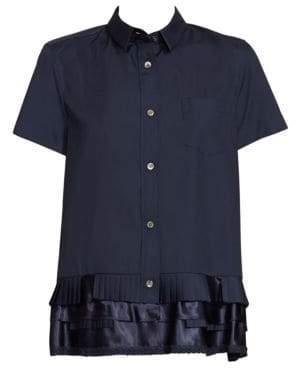 Sacai Poplin Ruffle Shirt