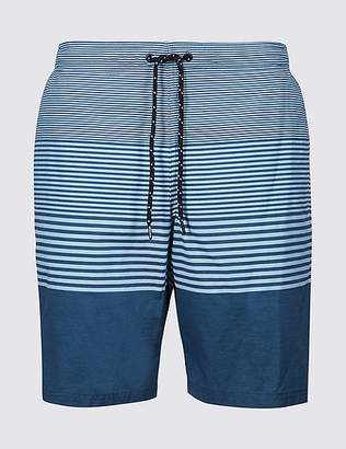 Marks and Spencer Cotton Rich Striped Quick Dry Swim Shorts