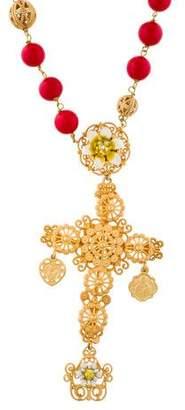 Dolce & Gabbana Sicily Cross Pendant Necklace