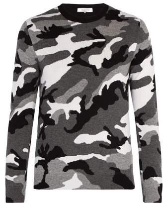 Valentino Camouflage Wool Sweater - Mens - Grey
