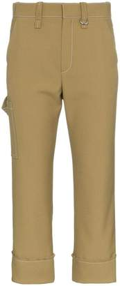 Chloé Capri cropped trousers with contrasting stitch