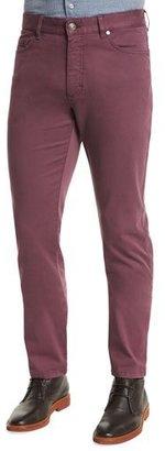 Ermenegildo Zegna Five-Pocket Stretch Pants, Purple $345 thestylecure.com