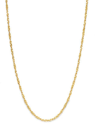 "Giani Bernini 18K Gold over Sterling Silver Necklace, 30"" Diamond-Cut Singapore Chain"