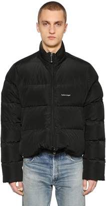 Balenciaga Logo Detail Down Jacket