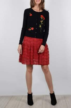 Molly Bracken Rose Embroidered Cardigan