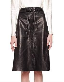 KITX Midi Leather Skirt