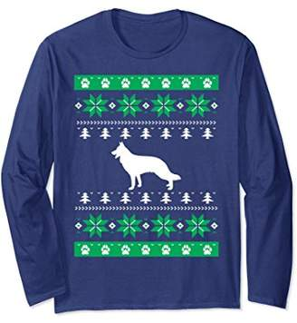 Funny German Shepherd Dog TShirt-Ugly Christmas Sweater