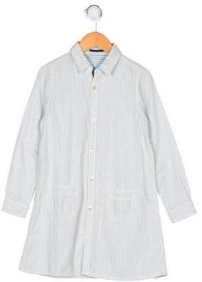 Fith Girls' Striped Collar Dress