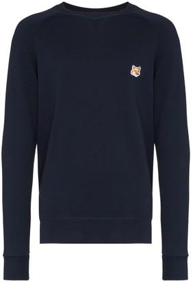 MAISON KITSUNÉ logo patch sweater