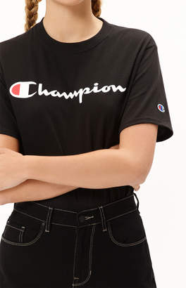Champion Black Short Sleeve T-Shirt
