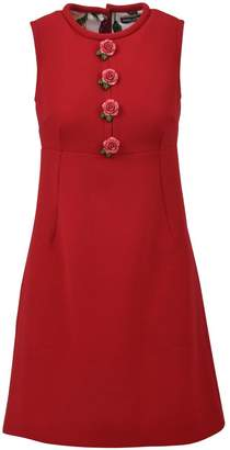 Dolce & Gabbana Red Wool Crepe Dress