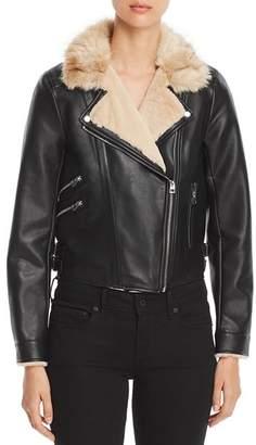 Vero Moda Faux Leather Cropped Moto Jacket