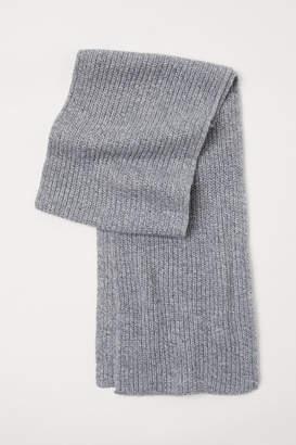 H&M Rib-knit Scarf - Gray