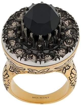 Alexander McQueen gem embellished ring