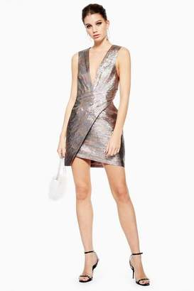 Topshop Rainbow MeTallic Wrap Dress