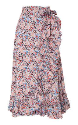 Philosophy di Lorenzo Serafini Printed Wrap Midi Skirt