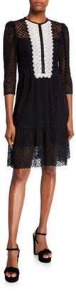 Nanette Lepore Victorian Lace 3/4-Sleeve Dress