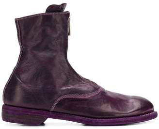 Guidi zipped front ankle boots