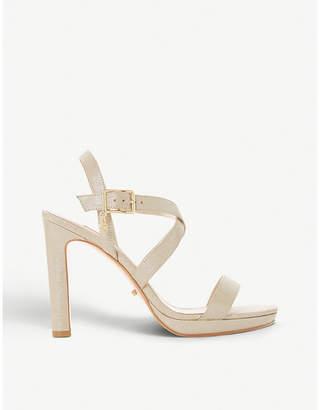 Dune Misstee cross-strap suede sandals