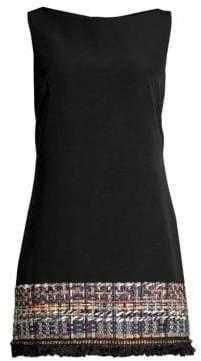 Milly Carla Tweed Hemmed Shift Dress