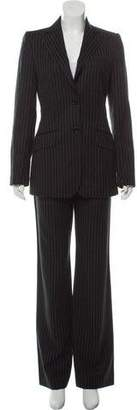 Dolce & Gabbana Virgin Wool Striped Pantsuit