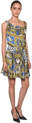 Versace Archive Printed Satin Mini Dress