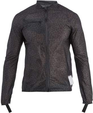 Satisfy Strummer leopard-print running jacket