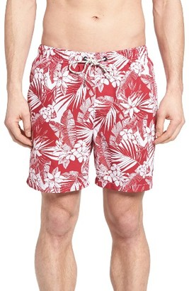 Men's Tommy Bahama Naples Plumeria Paradise Print Swim Trunks $58 thestylecure.com