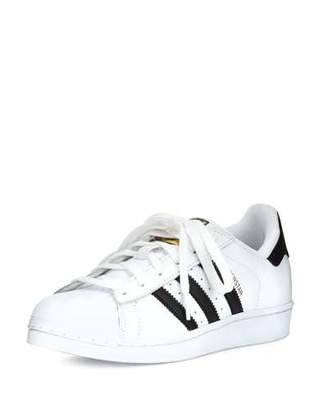 Adidas Superstar Classic Sneaker, Black/White $80 thestylecure.com