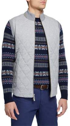 Peter Millar Men's Zip-Front Birdseye Vest