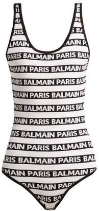 Balmain Logo Intarsia Body - Womens - White Black