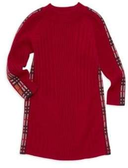 Burberry Little Girl's& Girl's Cathina Check-Detail Sweater Dress
