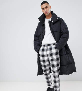 Asos Sixth June oversized puffer coat in black Exclusive to