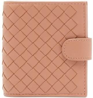 Bottega Veneta Intrecciato Bi Fold Leather Wallet - Womens - Nude
