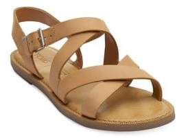Toms Women's Sicily Leather Strappy Slingback Sandals