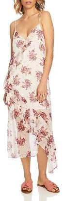 1 STATE 1.STATE Wildflower Ruffled Midi Dress