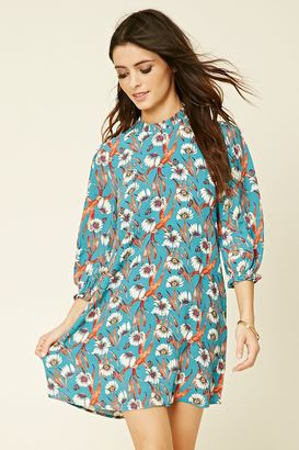 FOREVER 21+ Ruffle Floral Print Shift Dress $27.90 thestylecure.com