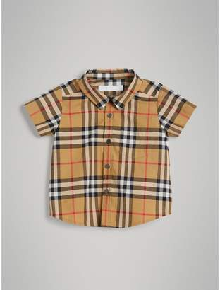 Burberry Childrens Short-sleeve Vintage Check Cotton Shirt